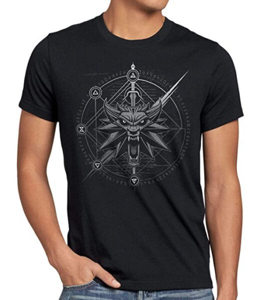 Camiseta The Witcher Escudo Geralt