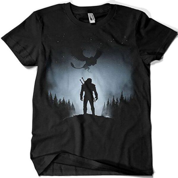 Camiseta The Witcher White Wolf