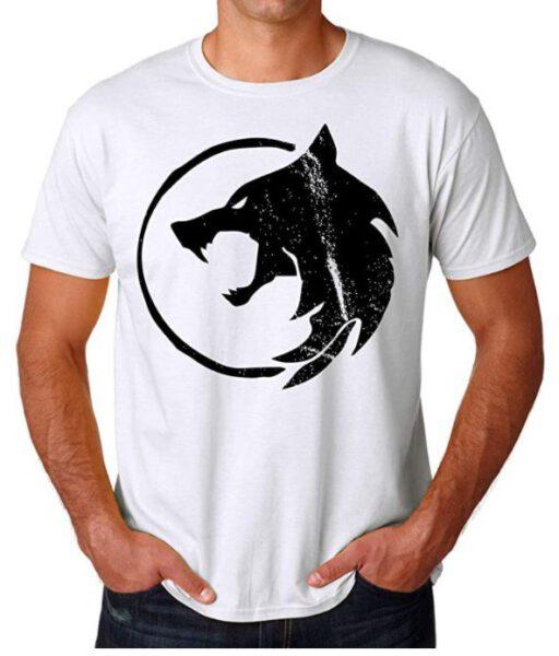 Camiseta The Witcher logo lobo