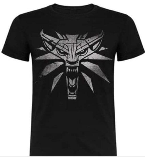 Camiseta The Witcher 3 white wolf