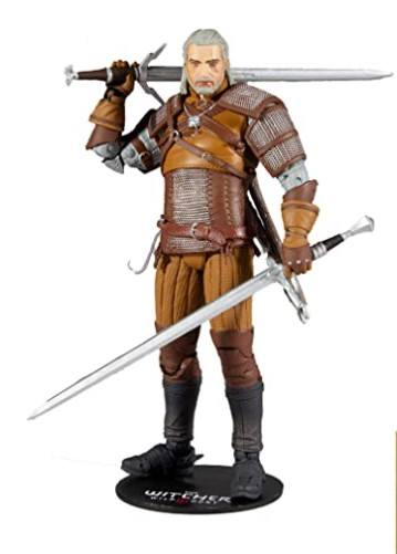 The Witcher Figura Geralt con espadas
