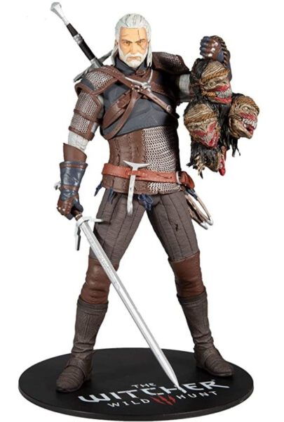 The Witcher Figura Geralt con cabezas