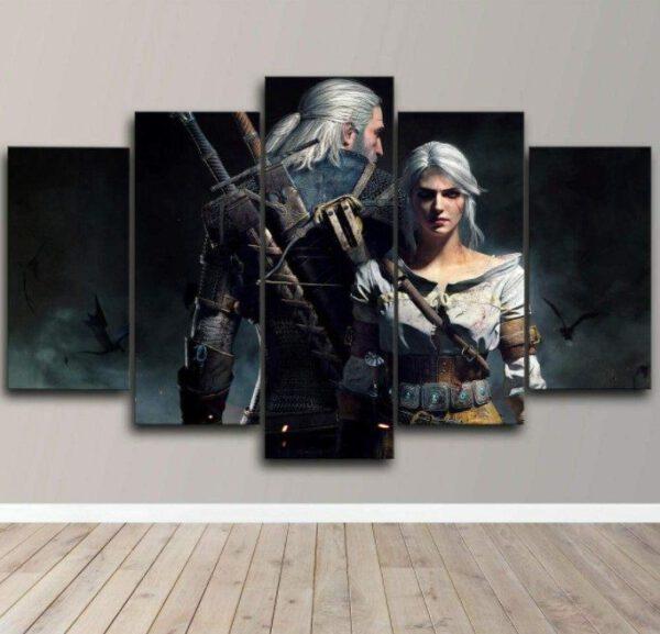 Geralt Rivia Ciri 5 piezas- Varios Tamaños