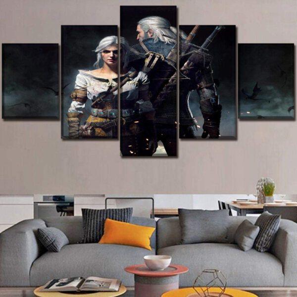 5 Piezas Geralt y Ciri- Varios tamaños