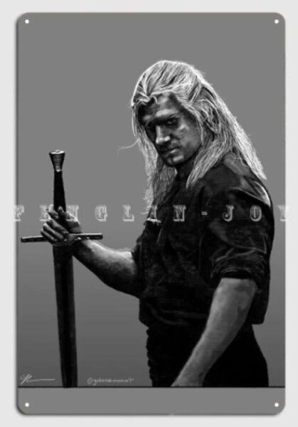 Poster metálico The Witcher- Varios tamaños