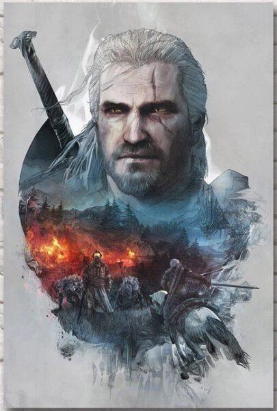 Poster The Witcher Wild Hunt- Varios tamaños