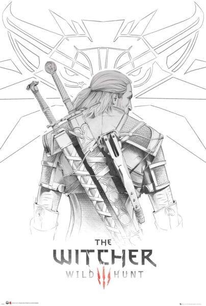 The Witcher Póster Geralt Sketch- 91.5 x 61 centímetros
