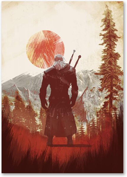 The Witcher bosque Poster – A3 Papel 190GSM