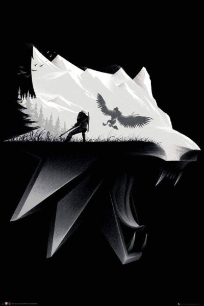 Poster The Witcher, Negro y Blanco 91x61cm