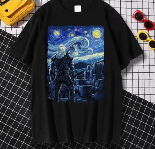 Camiseta The Witcher Van Gogh