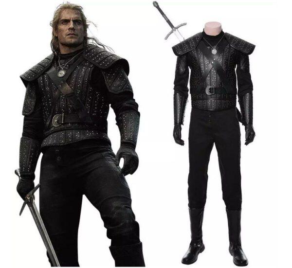 Disfraz Geralt de Rivia armadura Cosplay
