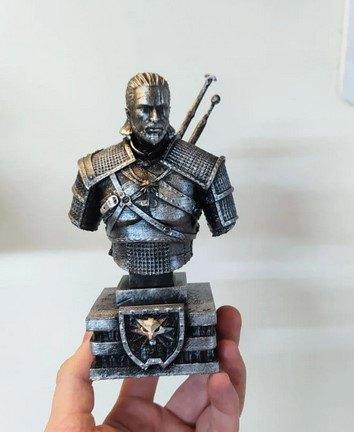Figura busto Geralt de Rivia