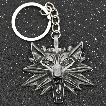 Llavero The Witcher emblema lobo