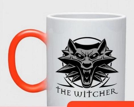 Taza The Witcher emblema lobo