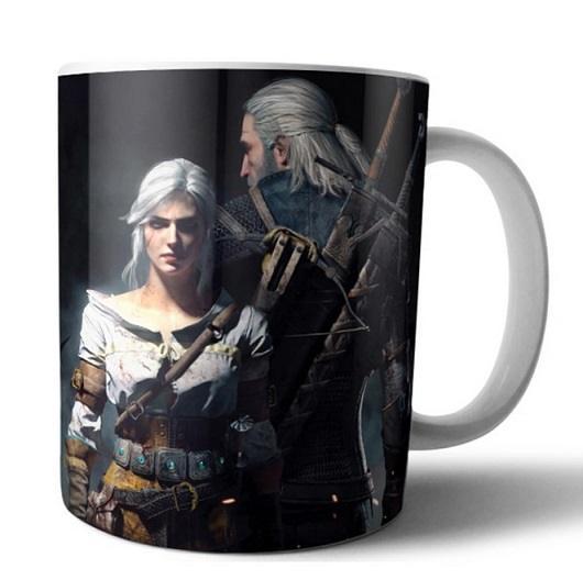 Taza The Witcher Geralt y Ciri